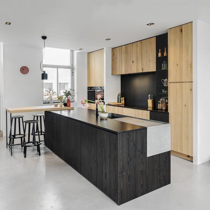 Houtmerk Houten Bar Blad Voor Keuken Maatwerk Massief Hout Thuis Keukens Keuken Nis Keukens