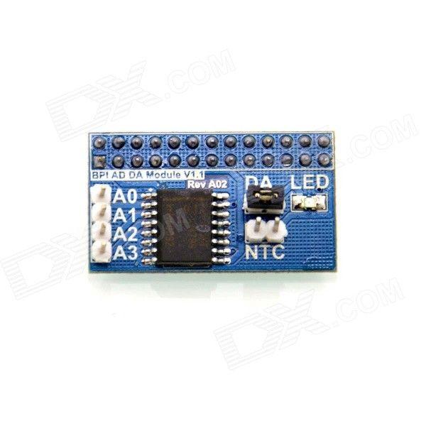 BPI EP-0037 Banana Pi Accessory AD/DA Module - White + Blue + Multi-Color. Produce Overview The DA/AD module is