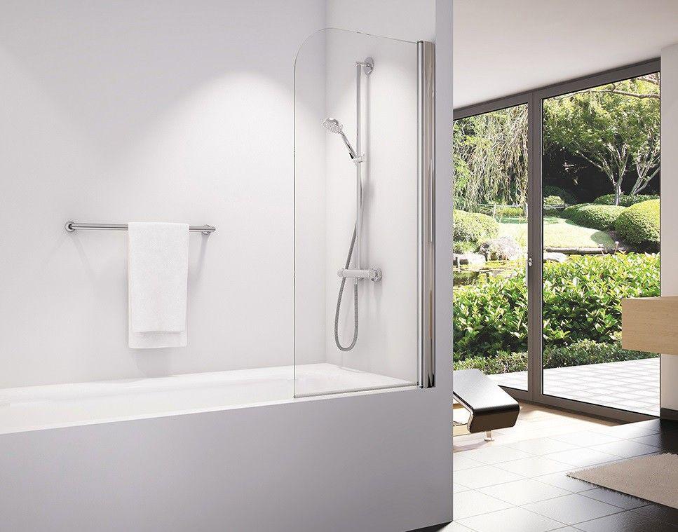 Badewannenaufsatz 75 x 150 cm Duschwand, Duschabtrennung