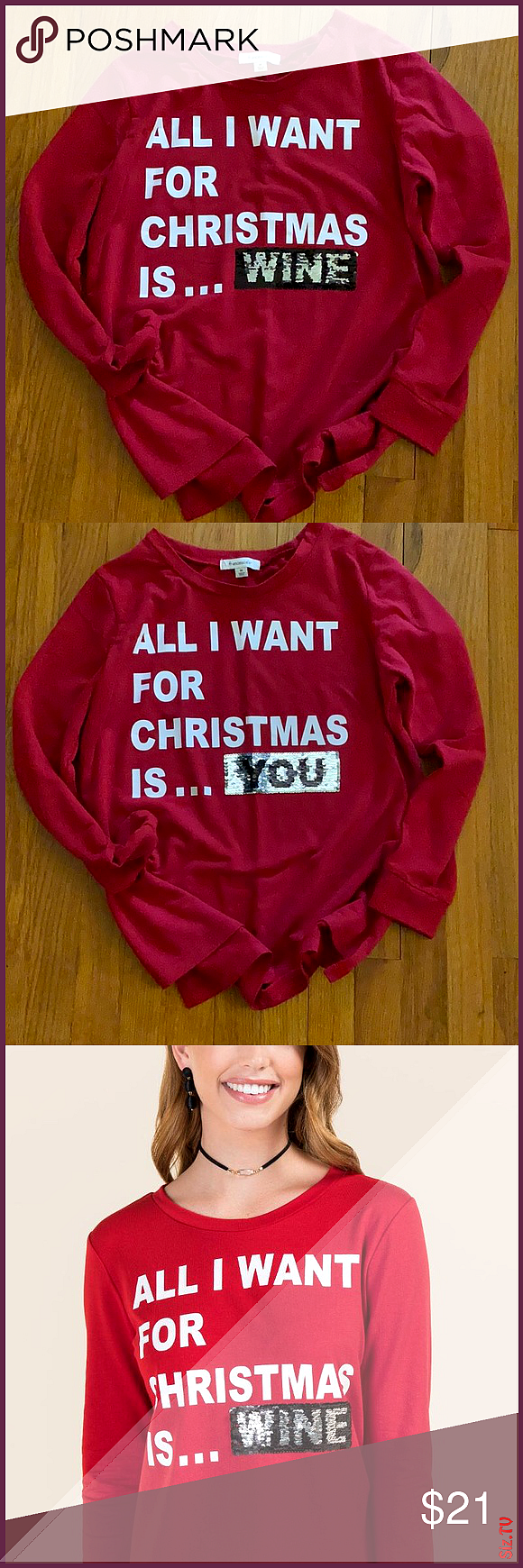 Cute Christmas Sweater Changeable Wording Sweater Used Once Excellent Condition Francesca S Collections Swea Cute Christmas Sweater Christmas Sweaters Sweaters