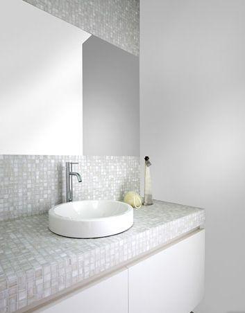 Badkamer mozaïek natuurlijke uitstraling mooi! Te koop bij Van Dijk ...