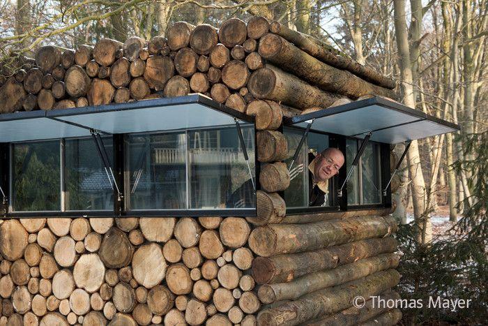 Gallery Of Tree Trunk Garden House Piet Hein Eek 7 Rustic Cabin Design Garden Home Office Rustic Cabin