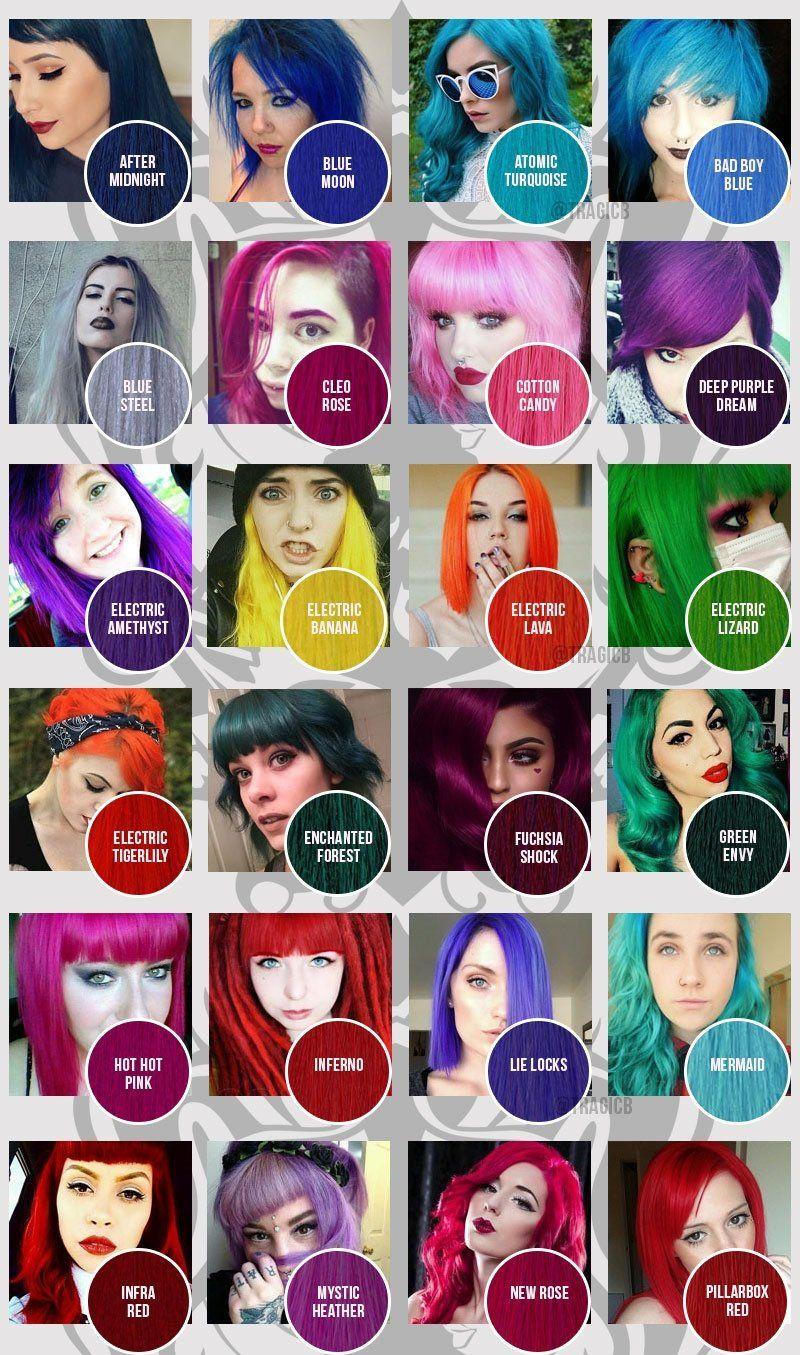 Manic Panic Colour Chart Classic Tragic Beautiful Fox Hair Dye Manic Panic Hair Color Hair Dye Colors