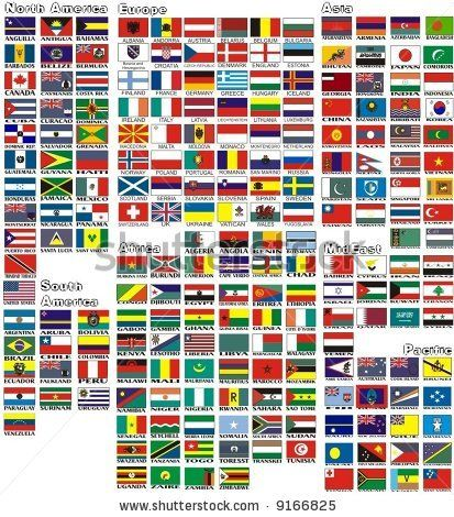 The National Flags Of All Countries Of The World Separated By Continents And Reduced By Alphabetical Or Flags Of The World Countries Of The World National Flag