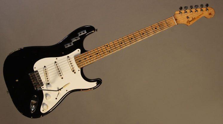 Gruhn Guitars 1955 Fender Custom Color Black Stratocaster Custom Guitars Fender Guitars Stratocaster Guitar