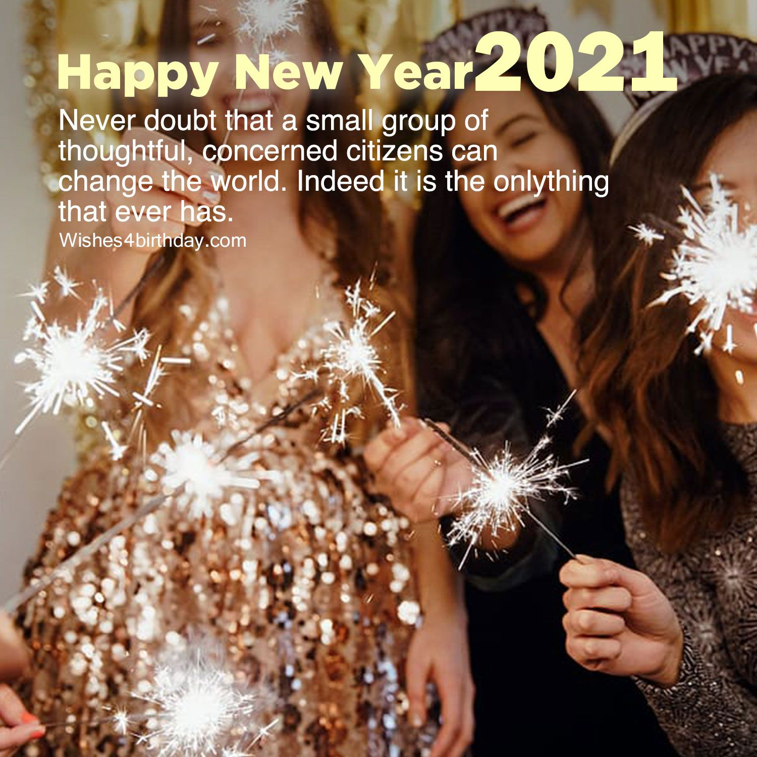 Lovely Morning with Happy new year 2021 photo countdown in