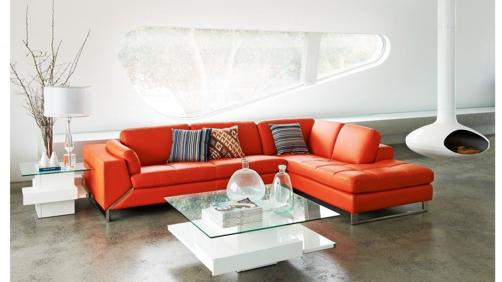 Genial Room · Venice 3.5 Seater Leather Sofa With Chaise   Lounges ...