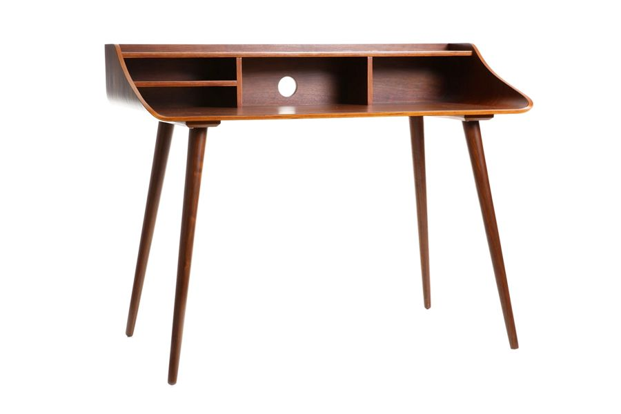 gobi all wood noyer - bureau secrétaire design scandinave en bois ... - Meuble Secretaire Design