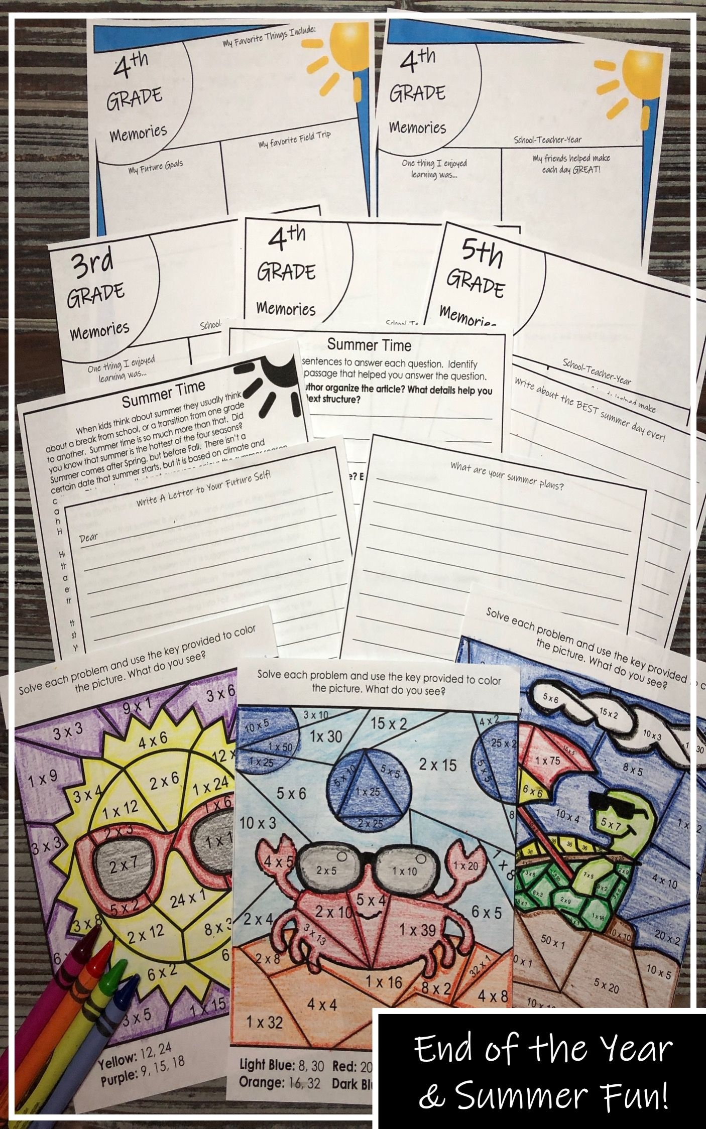 End Of The Year Summer Activities Ela Math Amp More