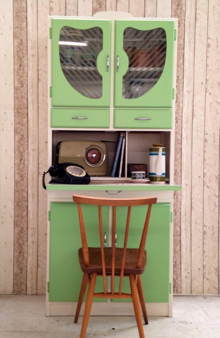 Vintage Retro Kitchen Cabinet Cupboard Larder kitchenette 50s 60s ...
