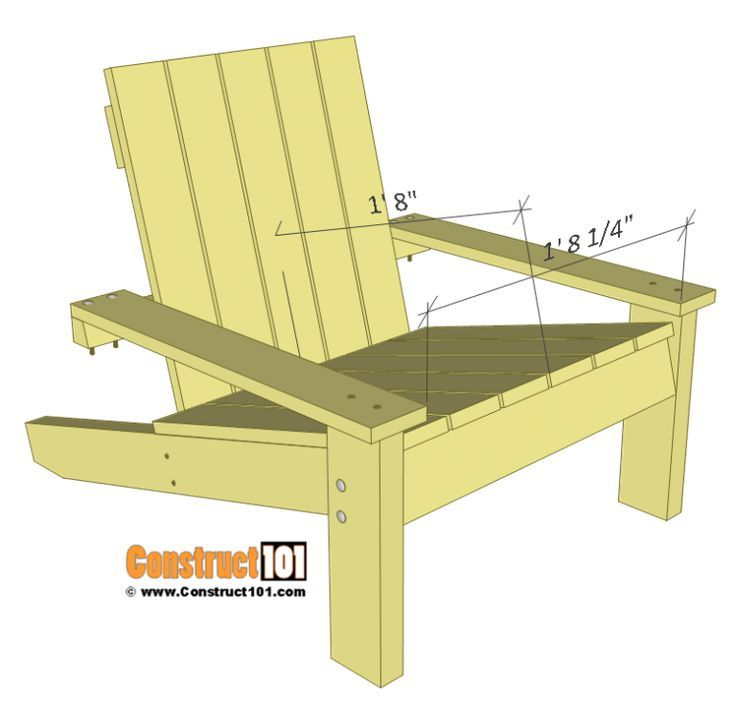 Adirondack Chair Plans in 2020 | Adirondack chairs diy ...