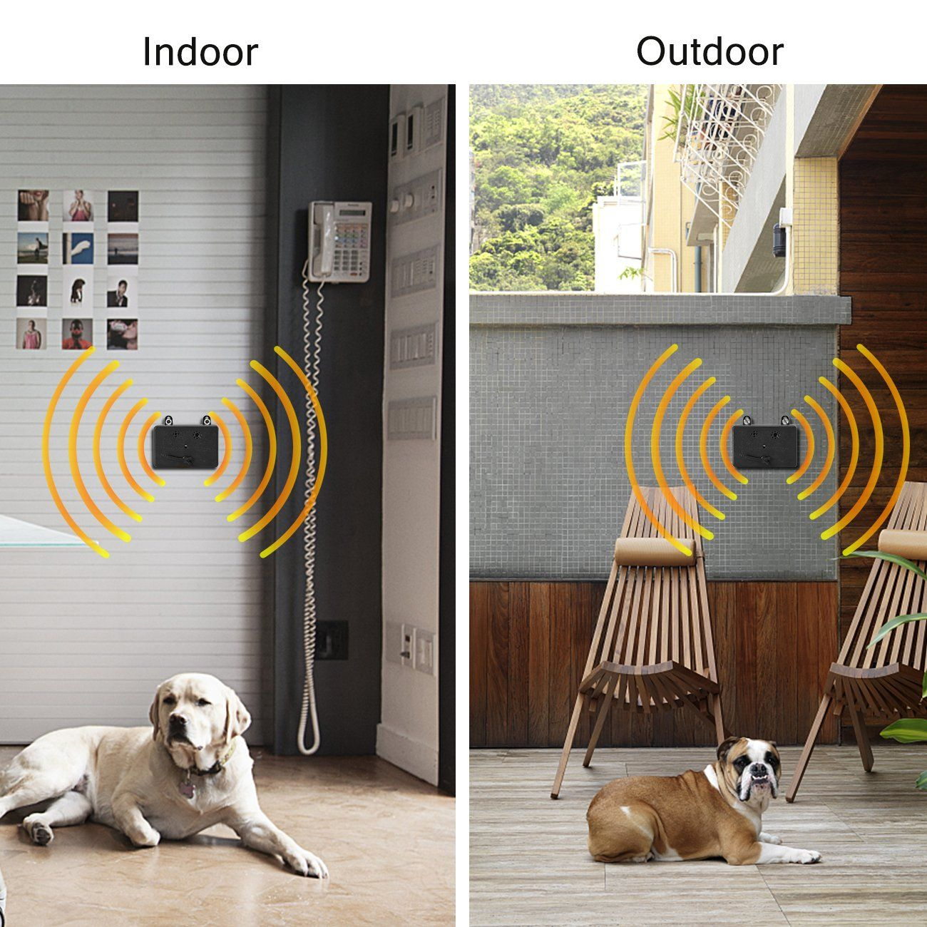 Anti Barking Device Dog Deterrent Training Tool Stop Barking Safe For All Size Dogs Outdoor Indoor Use Up To 50 Feet Dog Deterrent Dog Training Outdoor Dog