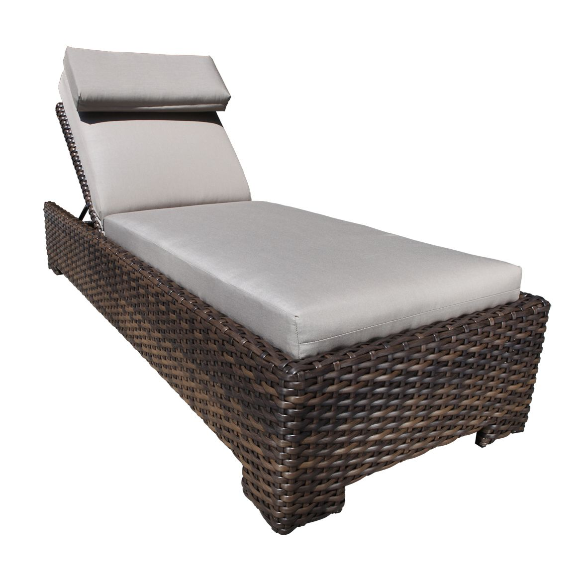 patio outdoor wicker chaise lounge with creative design | chaise