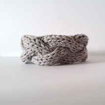 DIY Knitted Cable Bracelet with Pattern by Sascha, featured at savedbylovecreations.com #knitting #DIY #bracelets