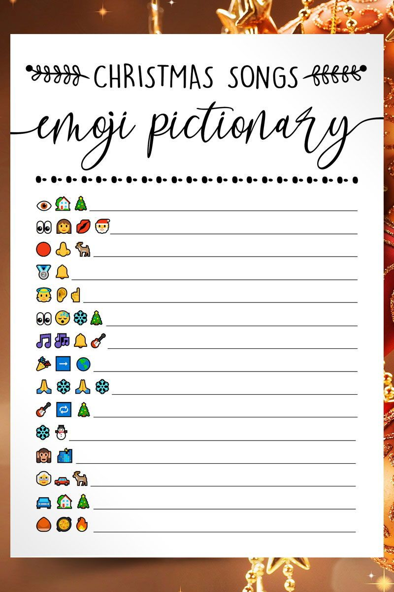10 In One Christmas Party Games Christmas Songs Emoji Pictionary Quiz Christmas Trivia Christmas Printables 480 In 2020 Printable Christmas Games Christmas Party Games For Groups Fun Christmas Games
