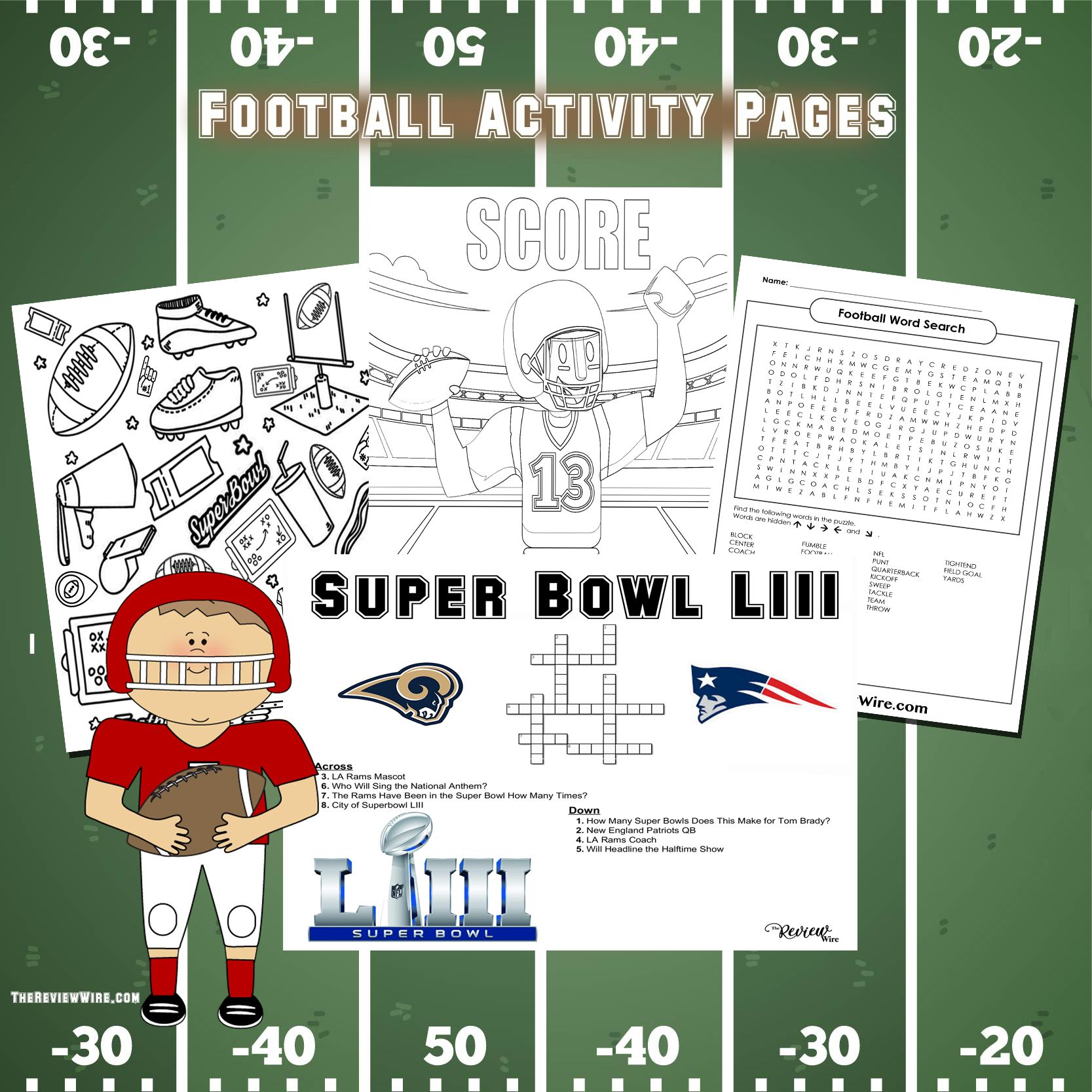 Printable Super Bowl Liii Activity Pages