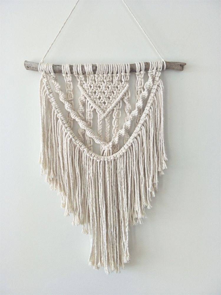 macrame wall hanging boho canvas nursery art