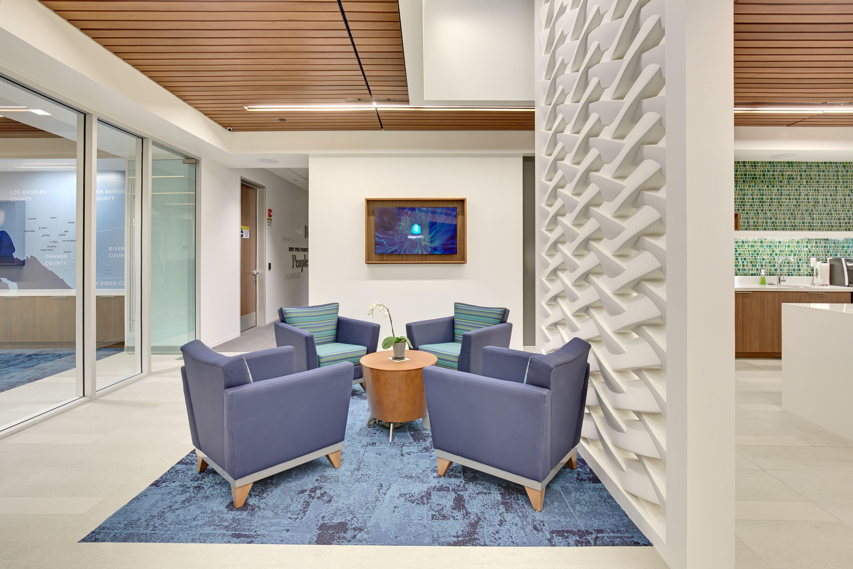 Interior design for credit union of southern california