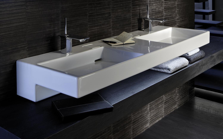 D Couvrez Ce Vaste Plan Vasque Terrace De Jacob Delafon Muni De 2 Cuves Il Conviendra