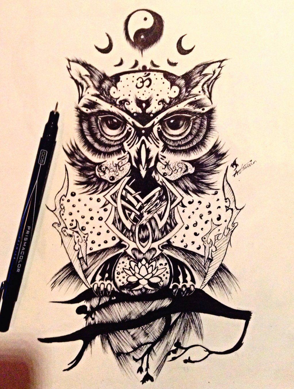 wise owl design by on deviantart owls hoo hoo pinterest. Black Bedroom Furniture Sets. Home Design Ideas