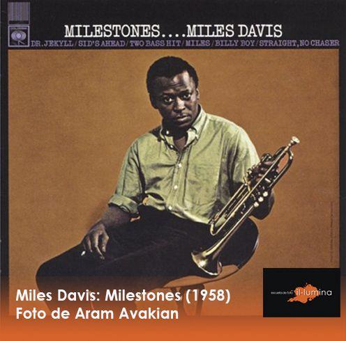 La toma a destacar en nuestro álbum de fotos o diseño de discos es la portada de Miles Davis: Milestones (1958), del fotógrafo Aram Avakian.