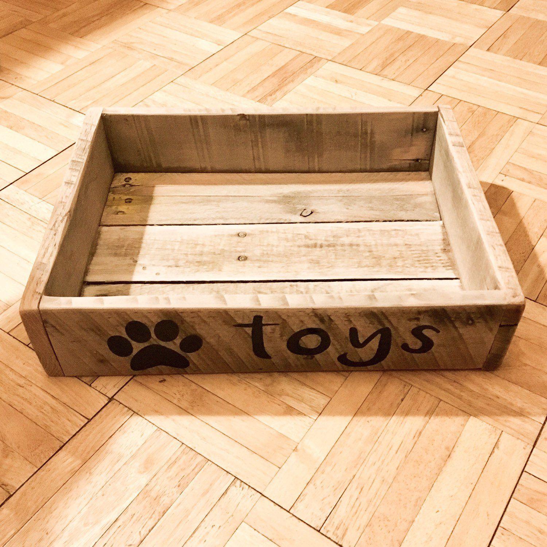 Dog toy boxcrate etsy dog toy box dog toys toy boxes