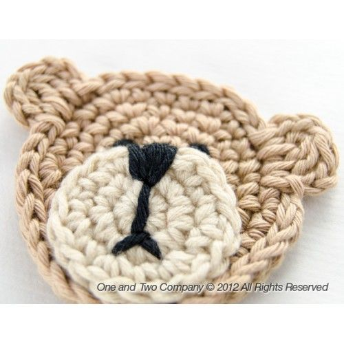 Teddy Bear Applique Crochet Should be easy enough to figure out this pattern on my own.