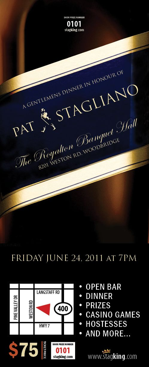 Johnny Walker Stag party invitation by StagKing.com | Stag Party ...