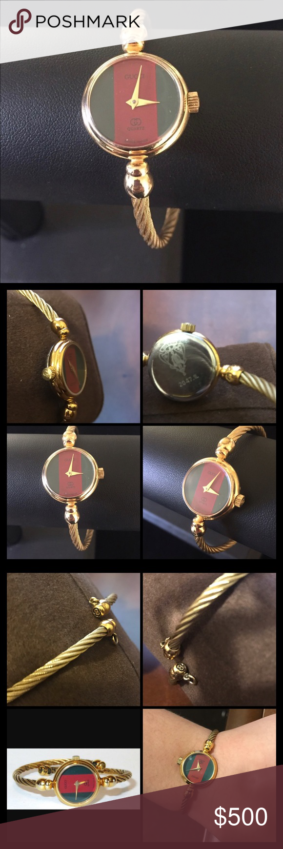 7a37359c688 Vintage Gucci 2047-L 18k Bangle Rope Cable Watch!! Selling this gorgeous 100