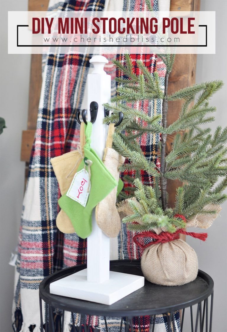 DIY Christmas Stocking Pole Christmas stockings
