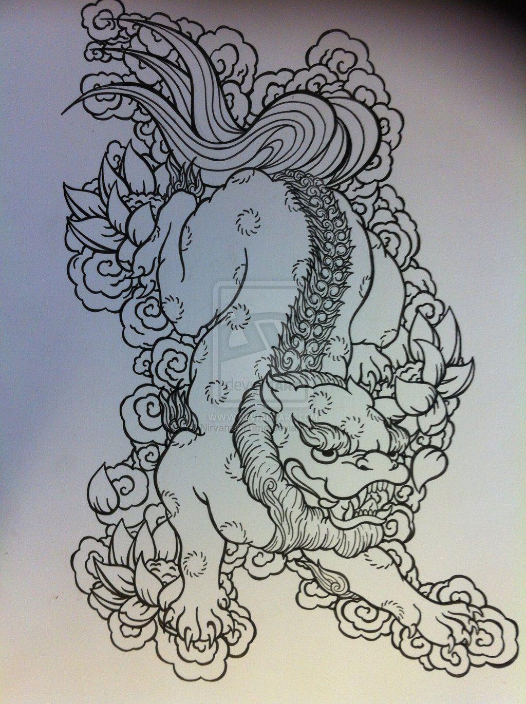 nirvanaoftime guardian lion foo fu dog | Tattoos | Pinterest