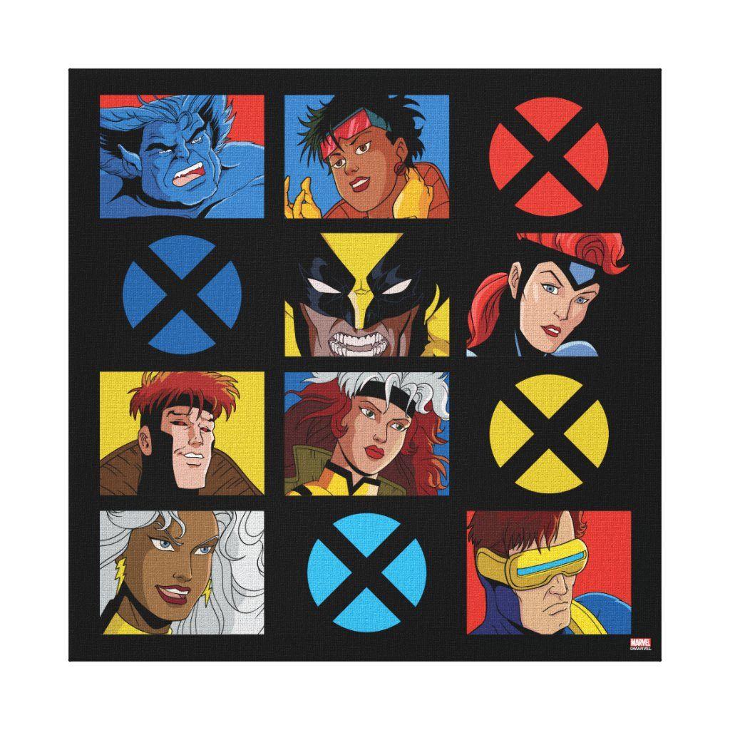 Classic X Men X Men Hero Character Grid Canvas Print Zazzle Com In 2020 Grid Poster Retro Canvas Art Canvas Prints