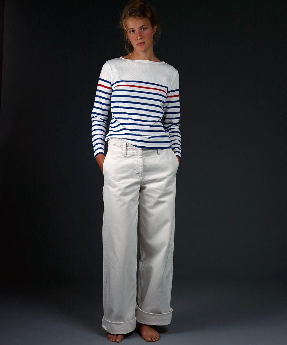 eadb3b82f5f31 Marinière Paimpol femme blanc - Armel Brittany   Stripes   Pinterest