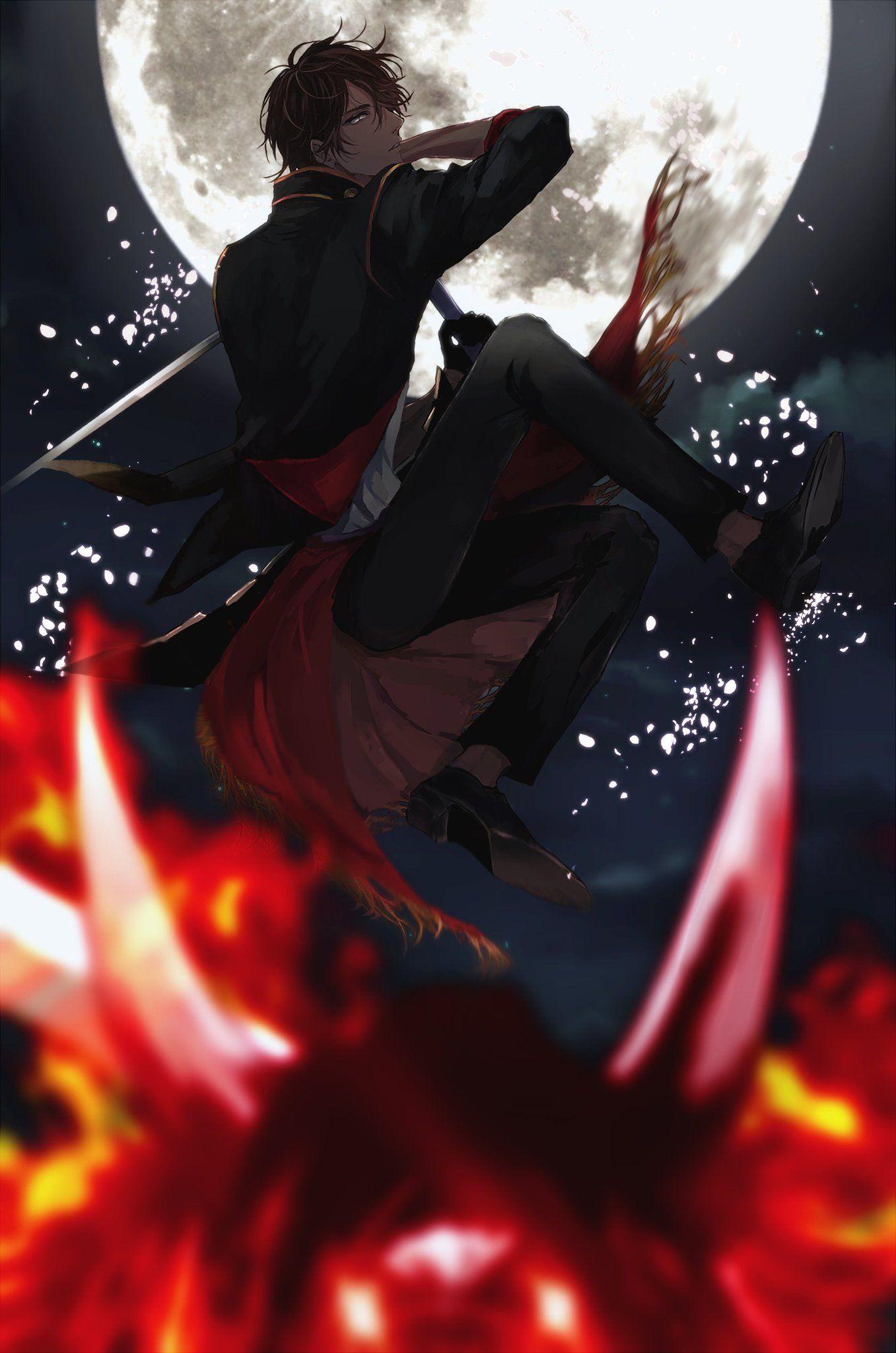 Pin by trash can on S U G A R Anime demon boy, Touken