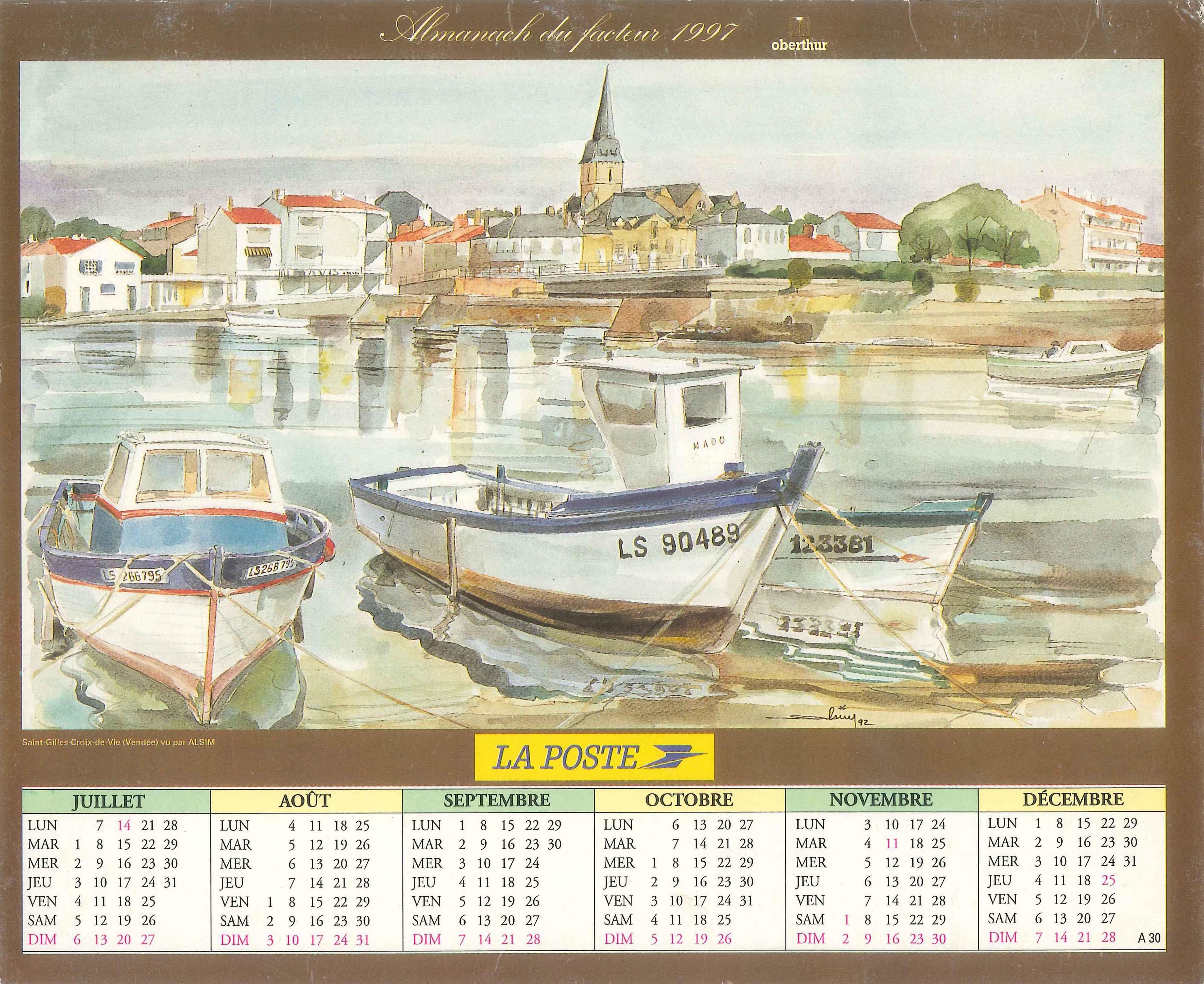 Almanach Des Postes 1997 2eme Semestre La Poste Banque Postale Postale