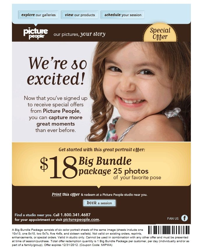 Picture People Coupon Printable Coupons Coupons Pictures