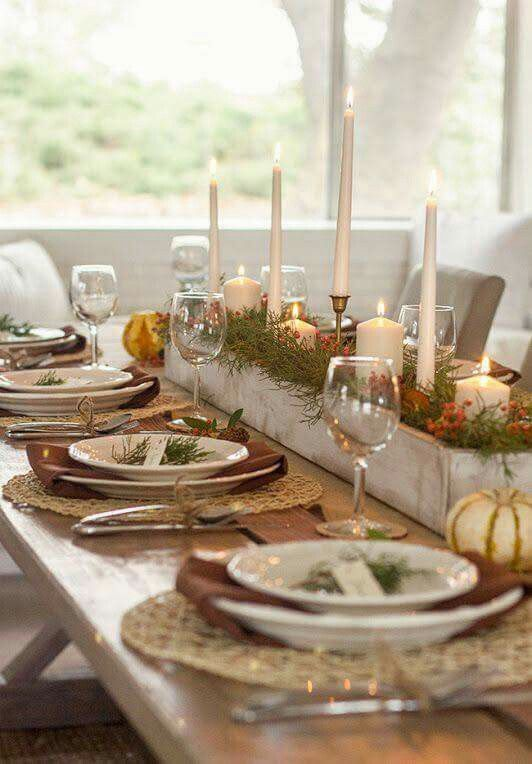 Thanksgiving table setting 2018. #herbstdekotisch