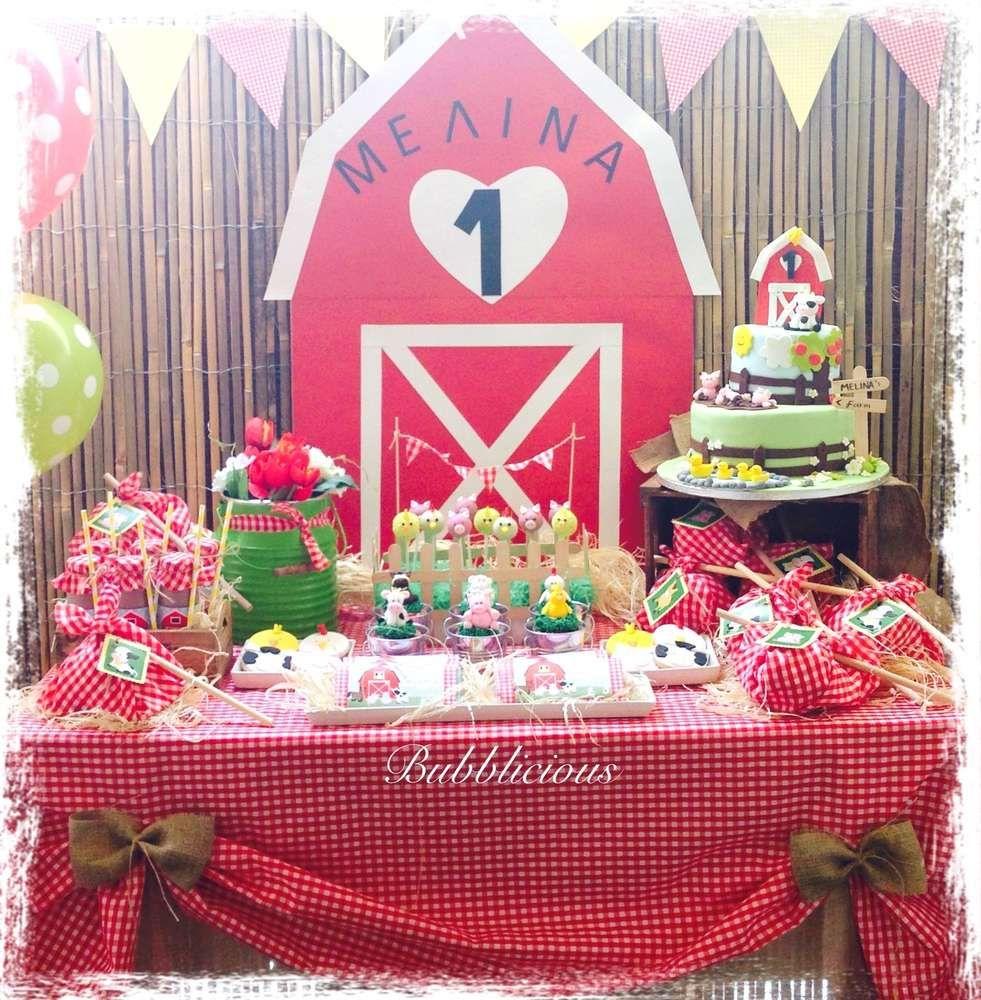 Farm Party Birthday Party Ideas En 2019