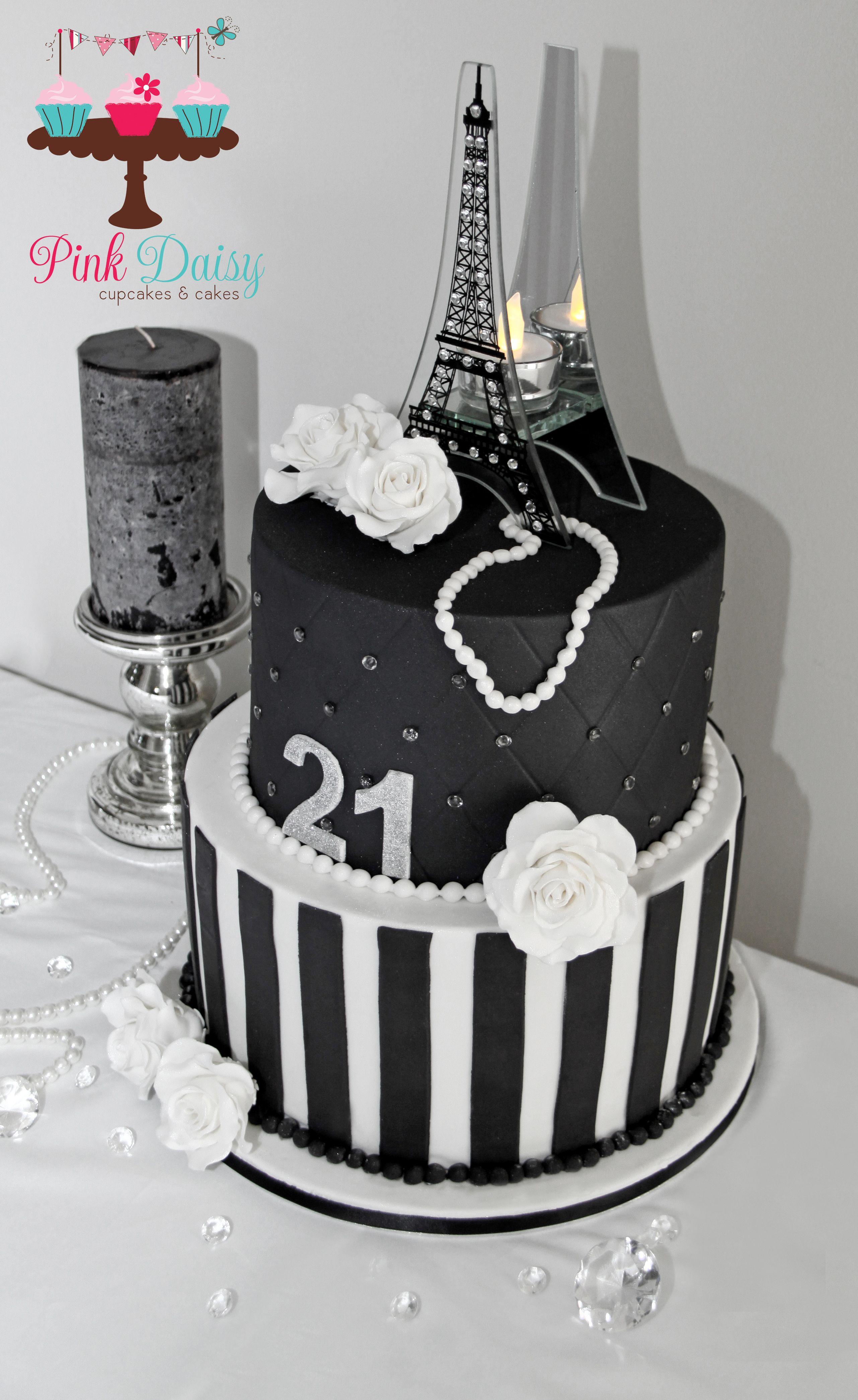 Paris Themed 21st Birthday Cake Cake Cupcakes