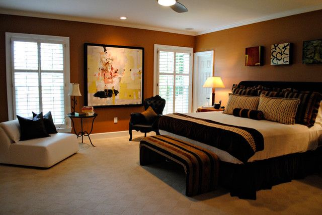 Bedroom De Ideas For Couples Adjusted To Cream Wall Paint