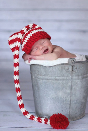 b0494ae7aa3 CCC128 Christmas Red and White Stripe Newborn Crochet Prop Hat More