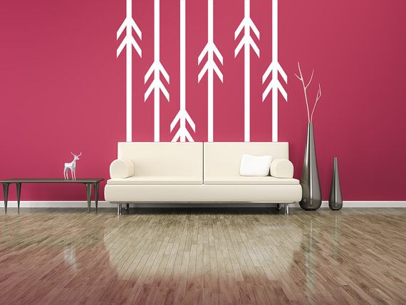 Wall Decal Geometric Arrow Line Pattern Abstract Shapes Symbol Archery Hunting Trending Trend Arrow Wall Decal Southwestern Wall Decor Southwestern Wall Decals