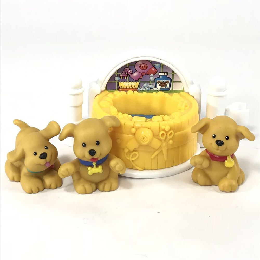 Fisher Price Little People Puppy Dog Bath Set Ebay Dog Bath