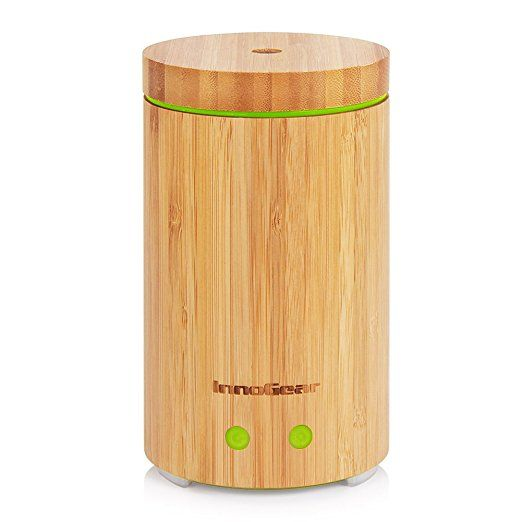 Innogear Real Bamboo Essential Oil Diffuser Ultrasonic Aromatherapy Diffusers With 7 Le Ultrasonic Aromatherapy Diffuser Bamboo Diffuser Essential Oil Diffuser