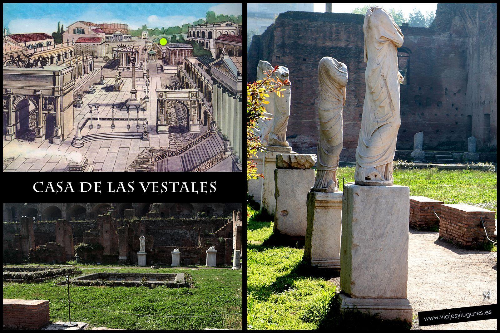 Casa de las Vestales • Foro Romano • Roma Roma, Roma