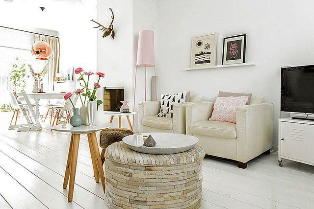 Déco salon moderne design scandinave, deco scandinave noir et blanc