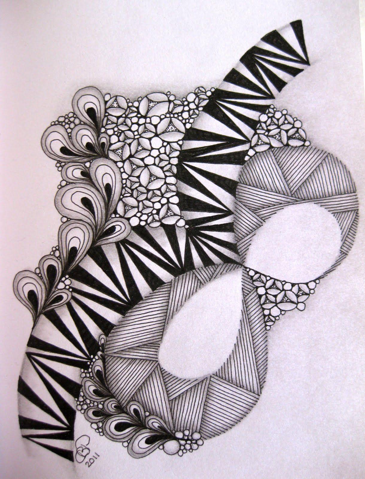 Claudia S World Of Zentangles I Am The Diva Challenge 32 Draw Zentangle Zendala Tangle Doodle Blackwhite Blackandwhite Schw Zentangle Artwork En Kleurplaten