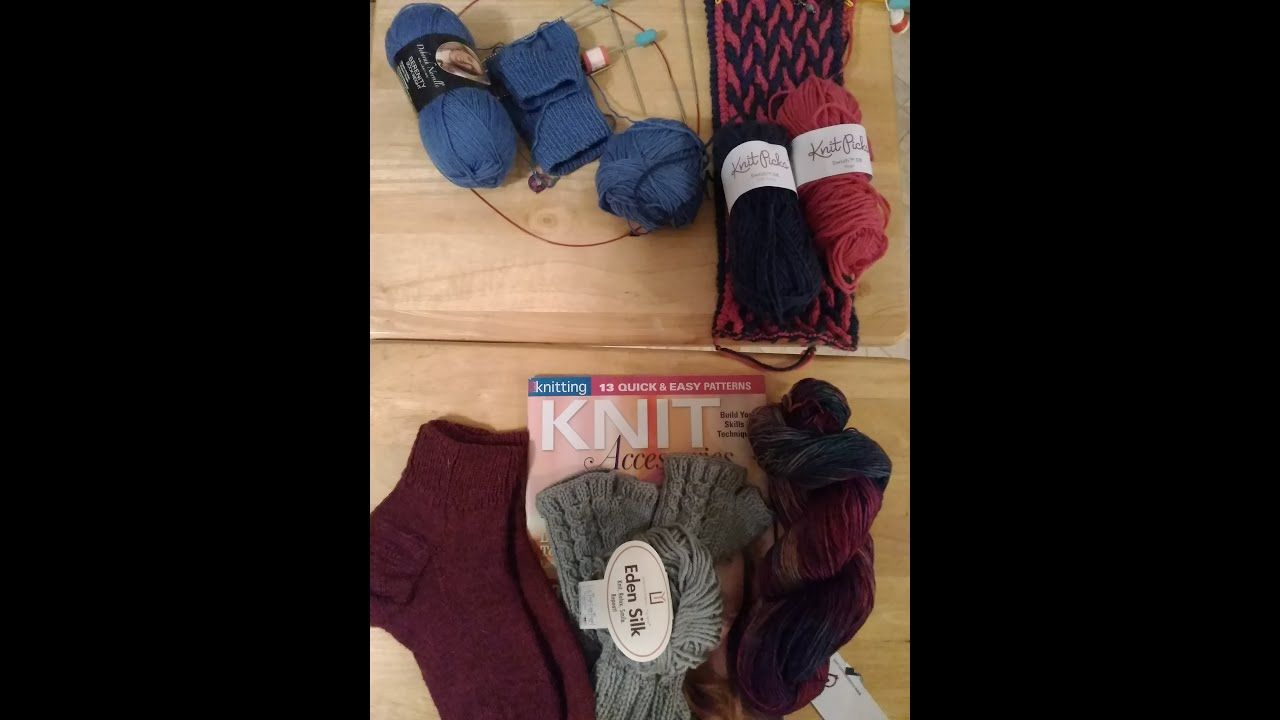 Episode 26 - More Socks, Finished Gloves, Scarf, Yarn, Countdown to Chri... #glovesmadefromsocks
