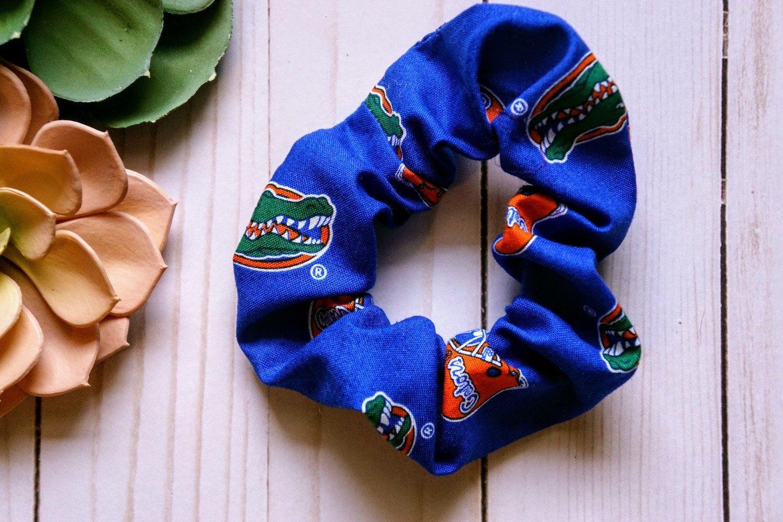 Uf Scrunchie Hair Tie Florida Gators Hair Accessory Etsy Florida Gators Florida Gators Softball Florida Gators Football