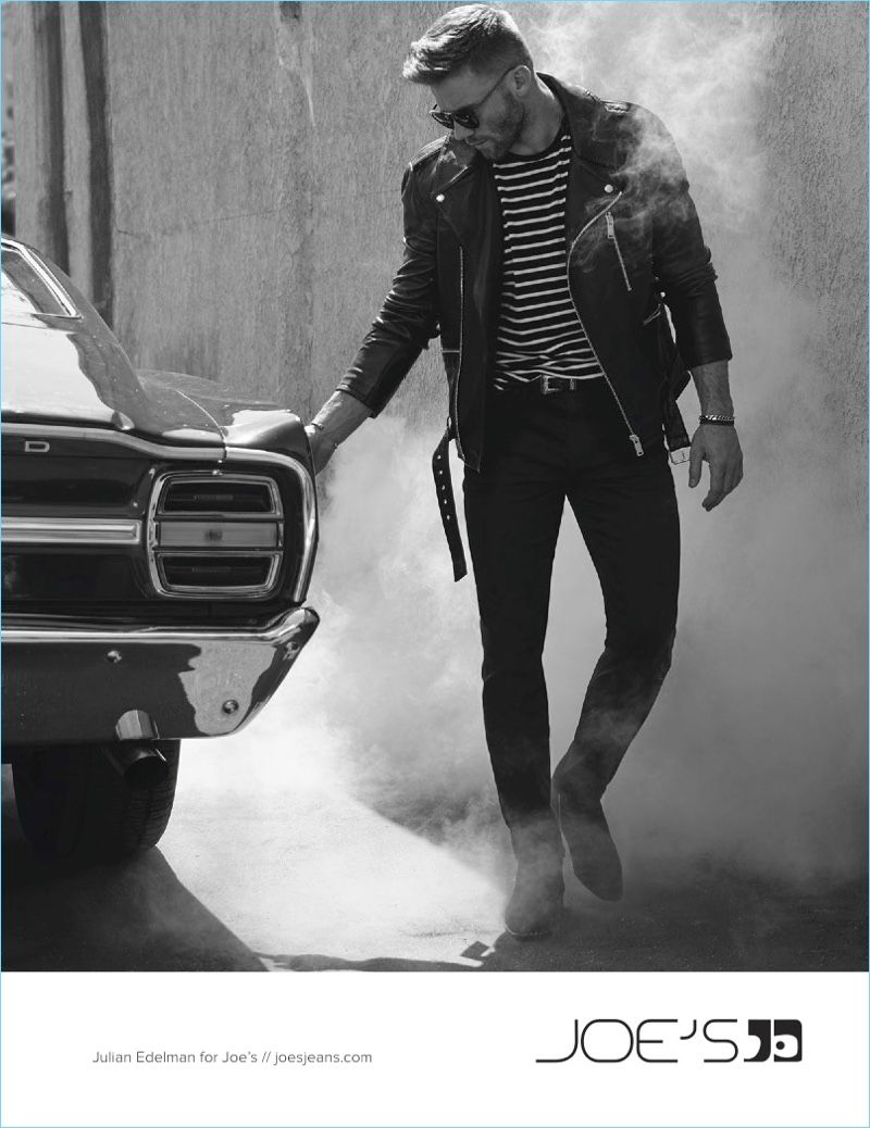 Julian Edelman Fronts Joe S Jeans Fall Winter 2017 Campaign Men Cars Photography Mens Winter Fashion Men Photography